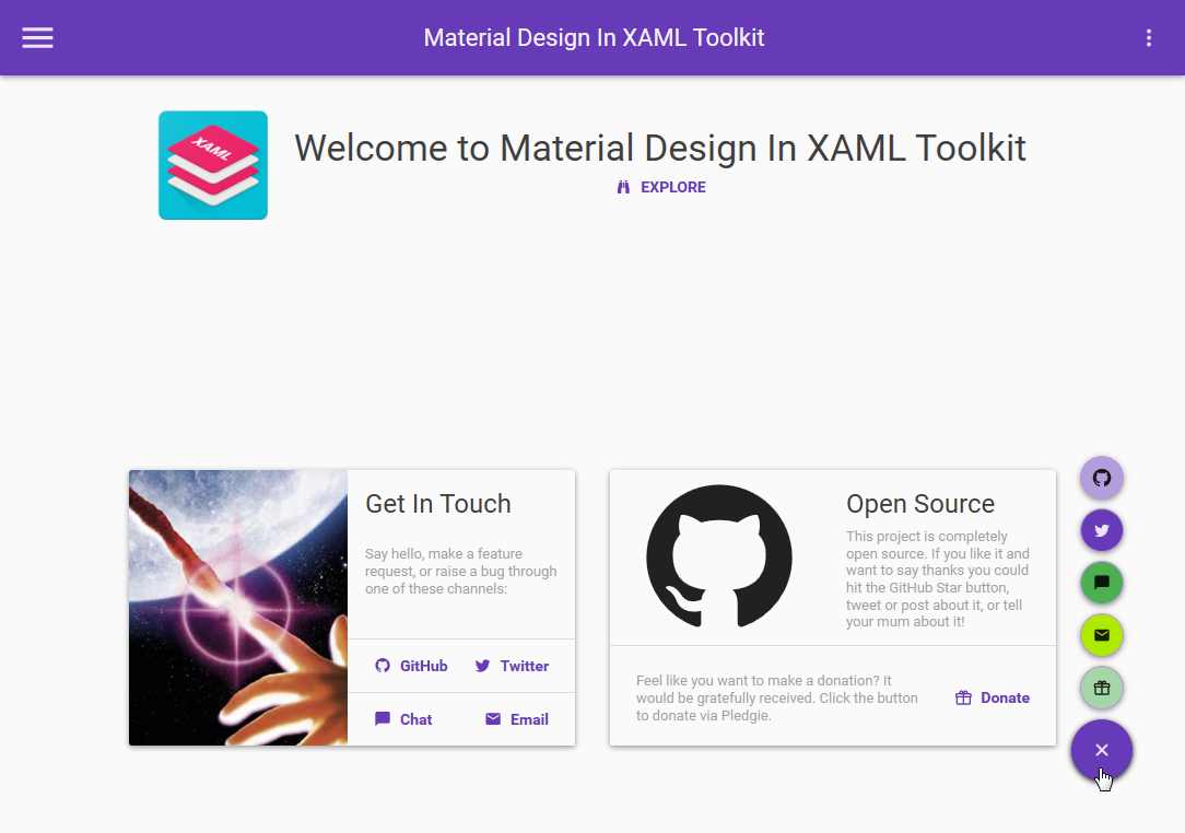 Material Design In XAML Toolkit Demo