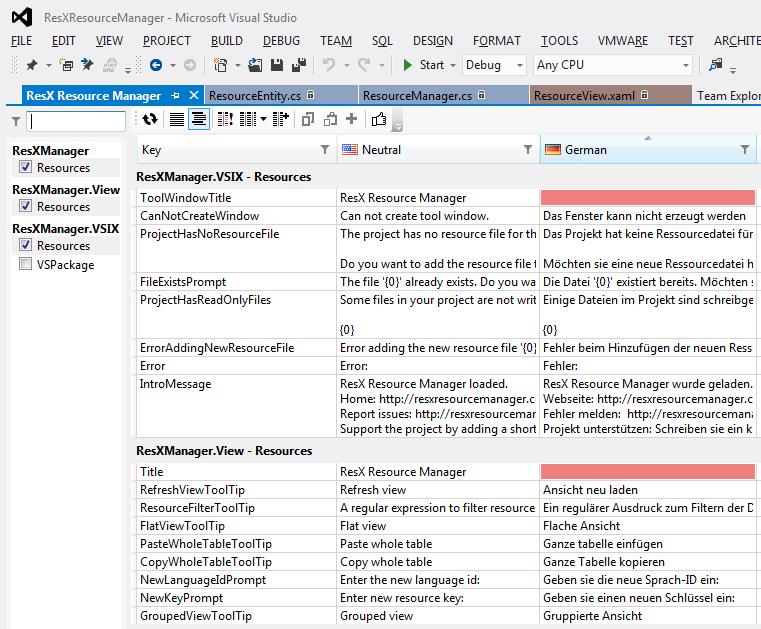 ResX Manager Visual Studio Erweiterung